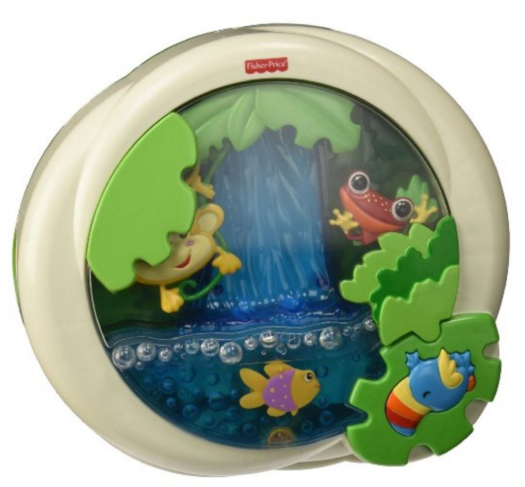 Best crib mobile for baby development - Fisher Price Rainforest Peek A Boo Soother
