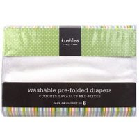 Kushies Washable Pre-folded Diapers