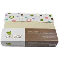 OsoCozy Unbleached Prefold Cloth Diapers