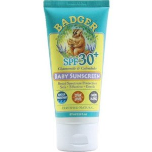 Badger Chamomile and Calendula Broad Spectrum SPF 34 Baby Sunscreen
