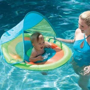 Way to introduce your baby to the water the baby spring float sun