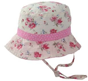 Millymook Girls Reversible Cotton Sun Hat
