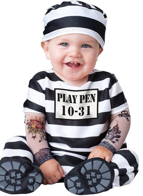 Jail Inmate Baby Halloween Costume